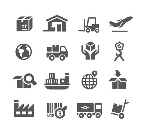 Przemysł i logistyka ikony - Series Utility Ilustracje wektorowe