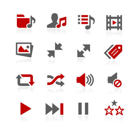 media player: Media Player Icons - Redico Series