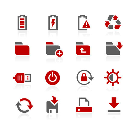 Energy and Storage Icons - Redico Series