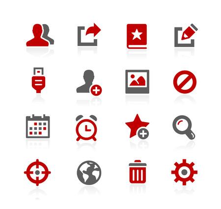 Iconos de la comunicación - serie de Redico Ilustración de vector