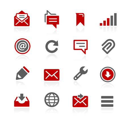 operating system: Messages Icons - Redico Series Illustration