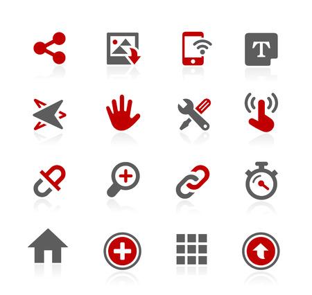 Sistema de iconos de la interfaz - Serie de Redico Ilustración de vector