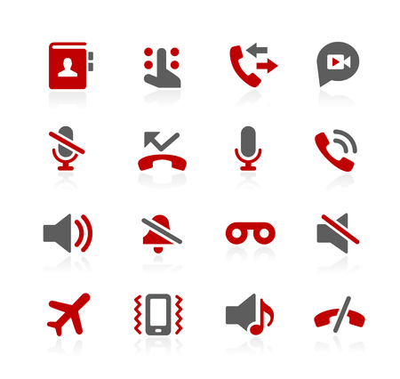 answering phone: Phone Calls Interface Icons - Redico Series