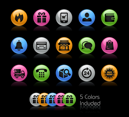 E-Shopping Icon set - Gelcolor Series Illustration