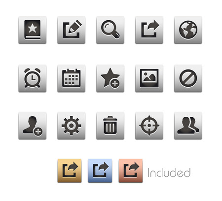 mobile apps: Interface Icons 2  The file includes 4 color versions in different layers. Illustration