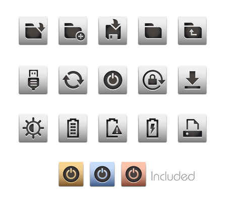 smartphone apps: Interface Icons 3  The file includes 4 color versions in different layers. Illustration