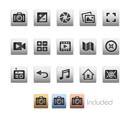 interface icons: Interface Icons 5  The file includes 4 colored versions in different layers.