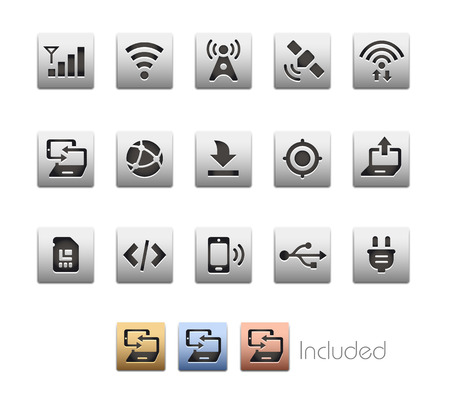 wireless connection: Interface Icons 6  The file includes 4 color versions in different layers.