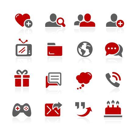 通信: 社会的なコミュニケーション アイコンRedico シリーズ