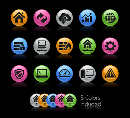 Web Developer Icons - The vector file Includes 5 color versions in different layers.