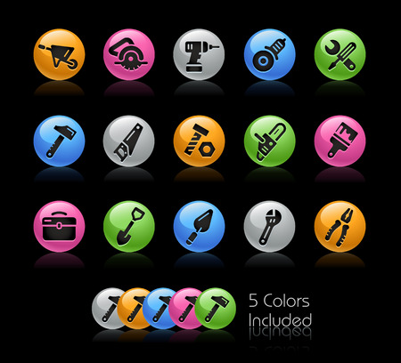 Tools Icons - The vector file Includes 5 color versions in different layers.
