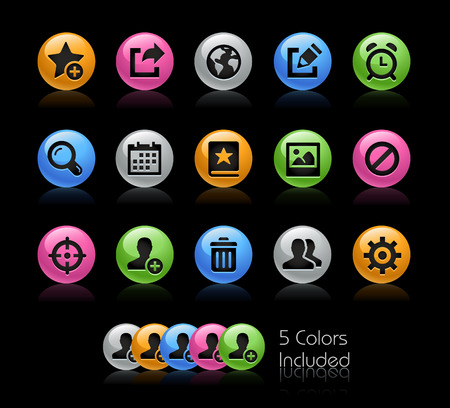 Communication Interface Icons - The vector file Includes 5 color versions in different layers. Illustration
