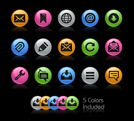 communications tools: Messages Icons - The vector file Includes 5 color versions in different layers. Illustration