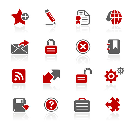 Web 2.0 Icons - Redico Series Vektorové ilustrace