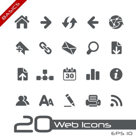 web icons: Web Icons  Basics. Illustration