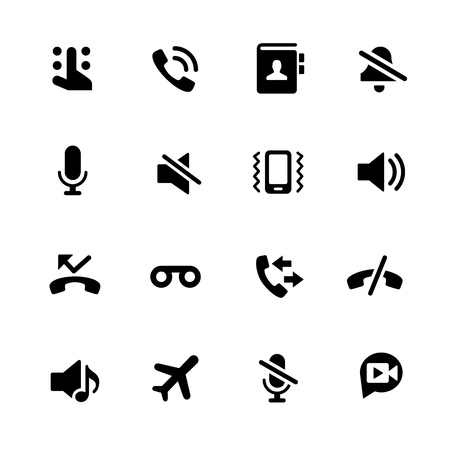 graphical user interface: Phone Calls Icons - Black Series -- Vector icons for your digital or print projects.