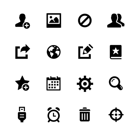 using smartphone: Communication Icons - Black Series -- Vector icons for your digital or print projects.