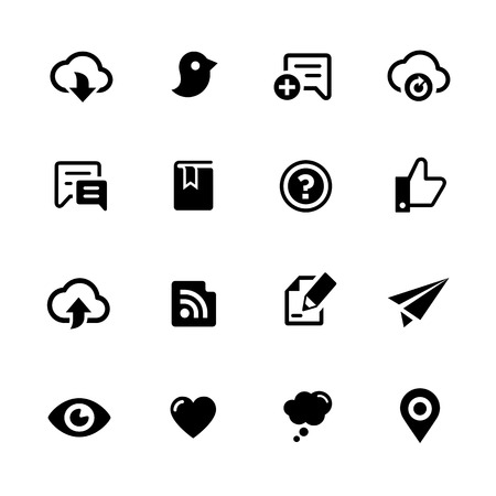 Social Sharing Icons - Black Series -- Vector icons for your digital or print projects.