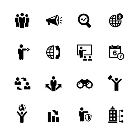 convention: Business Opportunities Icons - Black Series -- Vector icons for your digital or print projects.