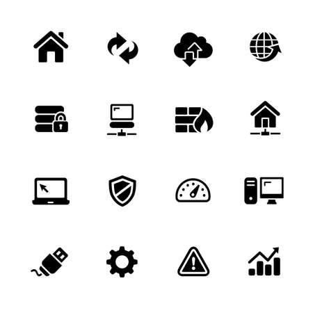 communication icons: Network Icons - Black Series -- Vector icons for your digital or print projects.