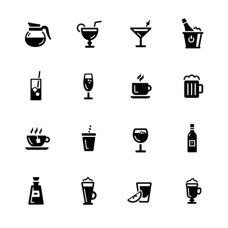 ice tea: Drinks Icons - Black Series -- Vector icons for your digital or print projects.