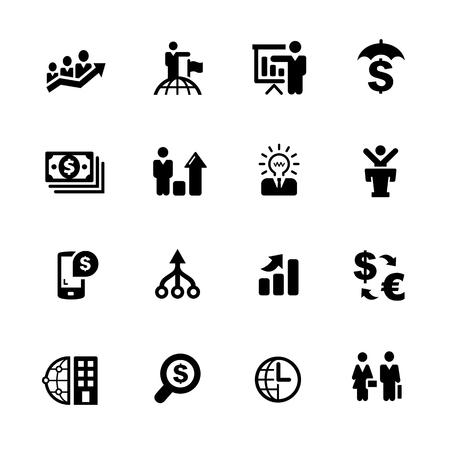 금융 비즈니스 - 블랙 시리즈 - 귀하의 디지털 또는 인쇄 프로젝트에 대 한 벡터 아이콘.