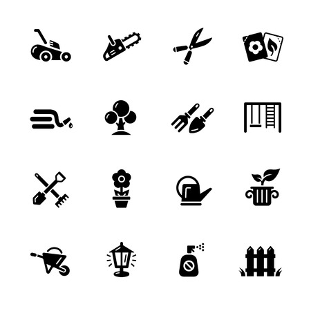 Gardening Icons - Black Series -- Vector icons for your digital or print projects.