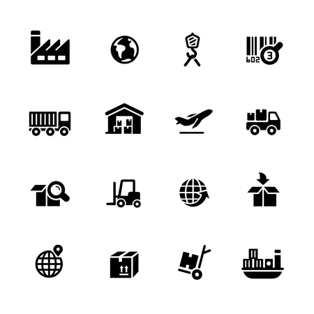 digital: Industry and Logistics icons - Black Series -- Vector icons for your digital or print projects.