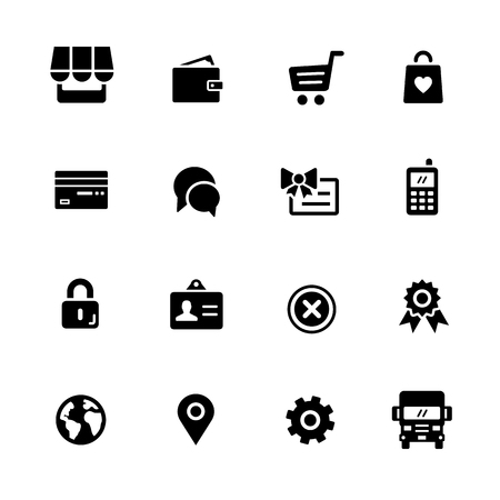 truck: Online Store Icons - Black Series -- Vector icons for your digital or print projects.