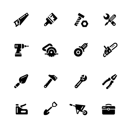digital: Tools Icons - Black Series -- Vector icons for your digital or print projects. Illustration