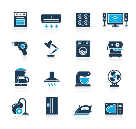 Household Appliances Icon Set - Azure Series