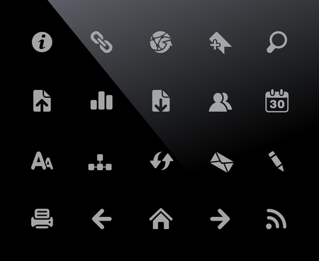Web Navigation Icons  32px Series - Vector icons adjusted to work in a 32 pixel grid.