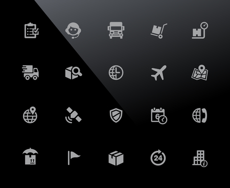 Shipping & Tracking Icons - 32px Series - Vector icons adjusted to work in a 32 pixel grid. Vectores