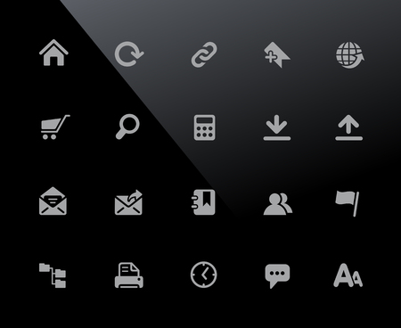 Web Page Icons - 32px Series - Vector icons adjusted to work in a 32 pixel grid. Ilustrace