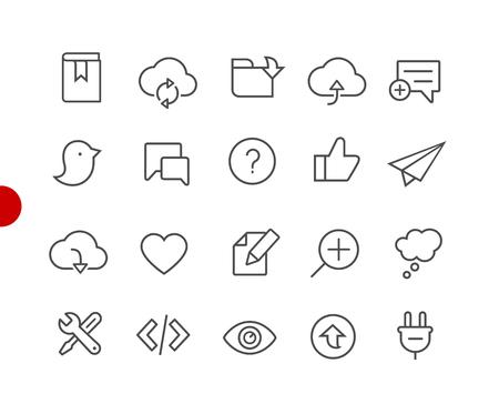 Iconos web y móviles 8 // Serie Red Point: iconos de líneas vectoriales para sus proyectos digitales o impresos