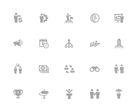 Business Concepts Icons Set // 32 pixels Icons White Series - Vector icons designed to work in a 32 pixel grid.