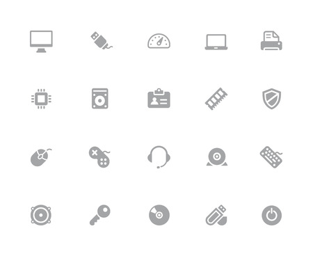 Computer Icons  32 pixels Icons White Series - Vector icons designed to work in a 32 pixel grid. Ilustrace