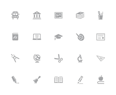 Education Icons // 32 pixels Icons White Series - Vector icons designed to work in a 32 pixel grid.