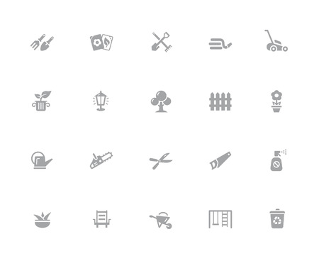 Gardening Icons  32 pixels Icons White Series - Vector icons designed to work in a 32 pixel grid. Illustration