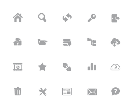 FTP & Hosting Icons  32 pixels Icons White Series - Vector icons designed to work in a 32 pixel grid.