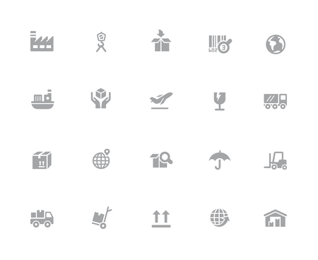Industry & Logistics Icons // 32 pixels Icons White Series - Vector icons designed to work in a 32 pixel grid. Illustration