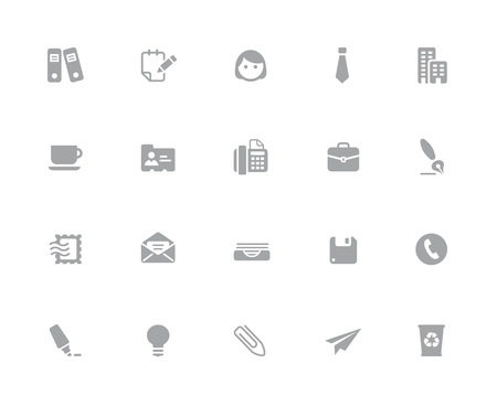 Office & Business Icons  32 pixels Icons White Series - Vector icons designed to work in a 32 pixel grid. Ilustração