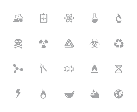 Science Icons  32 pixels Icons White Series - Vector icons designed to work in a 32 pixel grid.