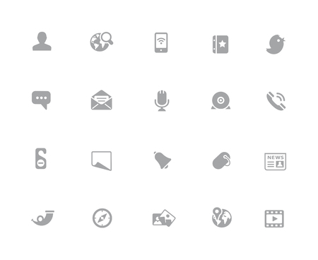 Social Icons // 32 pixels Icons White Series - Vector icons designed to work in a 32 pixel grid.