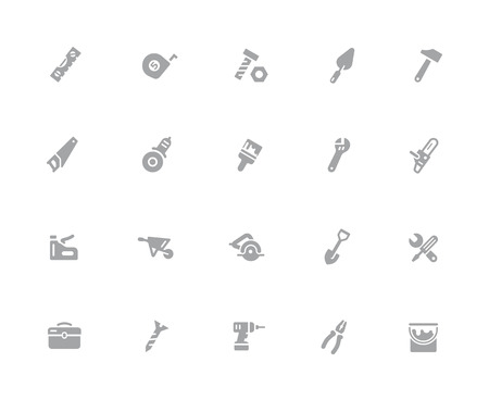 Tools Icons // 32 pixels Icons White Series - Vector icons designed to work in a 32 pixel grid.
