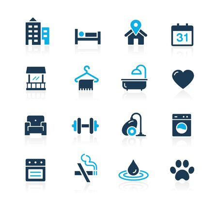 Hotel & Rentals Icons on white