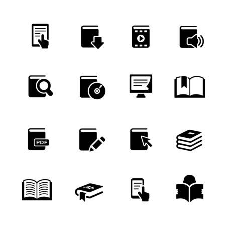 Book Icons // Black Series - Vector black icons for your web or media projects. Vecteurs
