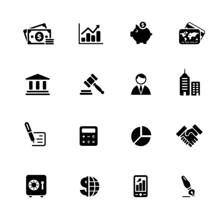 Business & Finance Web Icons // Black Series - Vector black icons for your web or media projects.