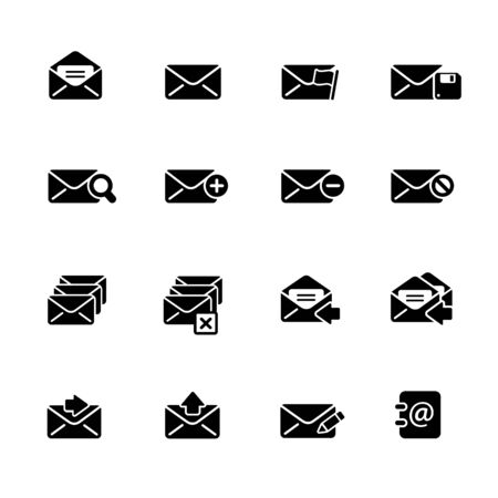 E-mail Icons // Black Series - Vector black icons for your web or media projects.