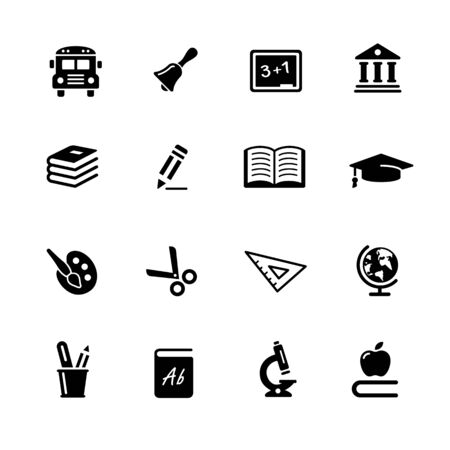 Education Icons // Black Series - Vector black icons for your web or media projects.